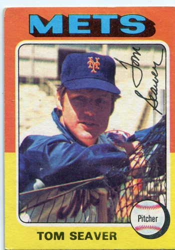 Photo of 1975 Topps #370 Tom Seaver Hall of Famer