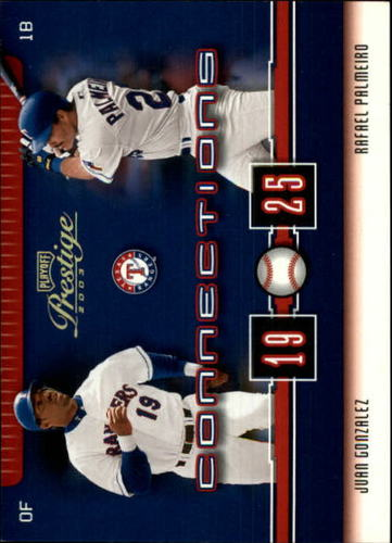 Photo of 2003 Playoff Prestige Connections 100 #64 J.Gonzalez/R.Palmeiro