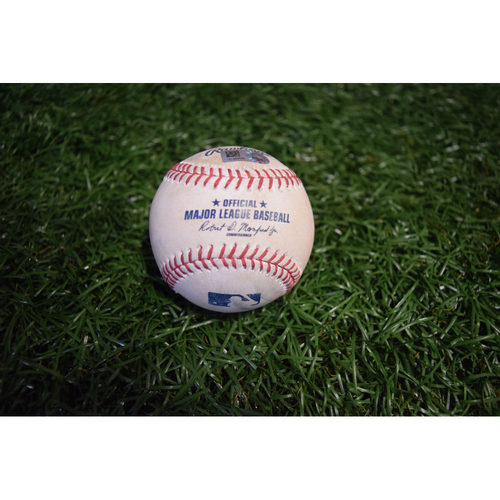Photo of Game-Used Baseball: Lorenzo Cain single off Blake Snell (unofficial inside-the-park home run)