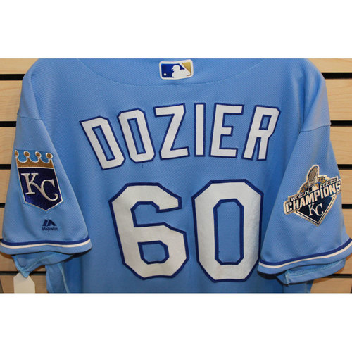 Photo of Game-Used Hunter Dozier Jersey (Size 48) (9/19/16 CWS @ STL)