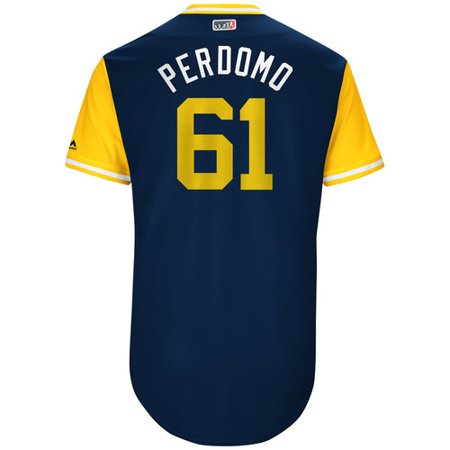 "Photo of Luis ""Perdomo"" Perdomo San Diego Padres Game-Used Players Weekend Jersey"
