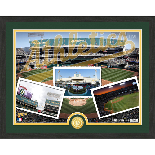 "Photo of Oakland Athletics ""Team Pride"" Bronze Coin Photo Mint - MLB.com Auctions Exclusive"