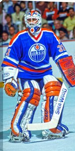 Grant Fuhr - 14x28 Hockey Hall Of Fame Canvas - Edmonton Oilers