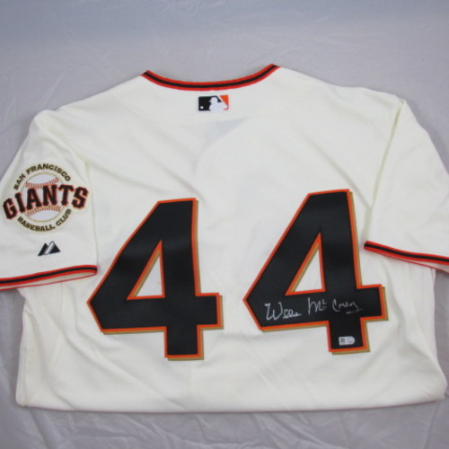 Photo of Willie McCovey Autographed Authentic Giants Home Jersey