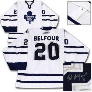 Ed Belfour Autographed Toronto Maple Leafs Authentic Pro Jersey