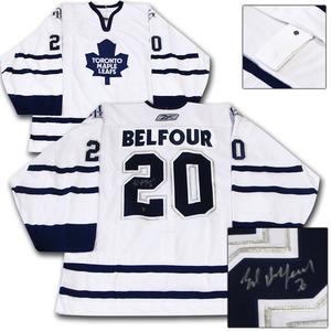 Ed Belfour Autographed Toronto Maple Leafs Authentic Pro Jersey