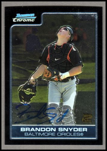 Photo of 2006 Bowman Chrome Prospects #BC244 Brandon Snyder AU
