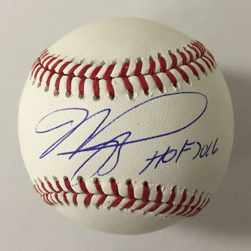 "Photo of Mike Piazza Autographed ""HOF 2016"" Baseball"