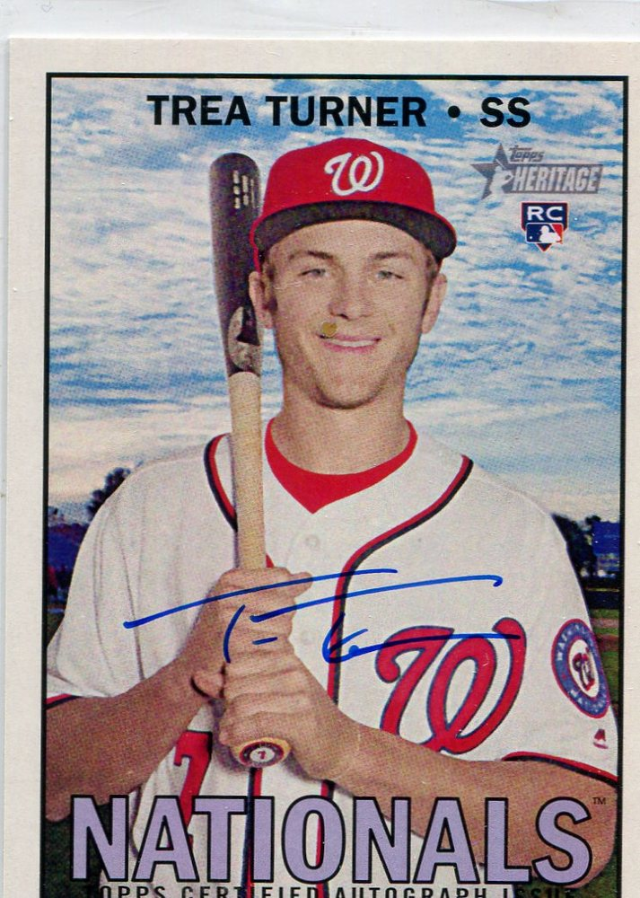 2016 Topps Heritage Real One Autographs  Trea Turner