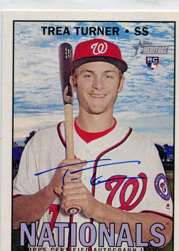 Photo of 2016 Topps Heritage Real One Autographs  Trea Turner