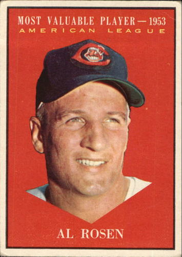 Photo of 1961 Topps #474 Al Rosen MVP