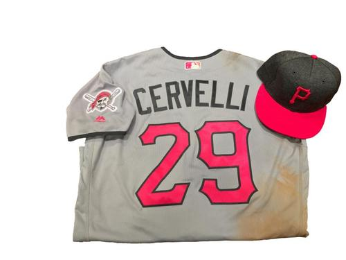 Photo of Francisco Cervelli Game-Used Mother's Day Jersey and Hat