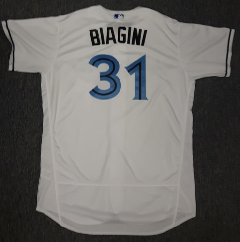 Photo of Authenticated Game Used Father's Day Jersey - #31 Joe Biagini (June 18, 2017)