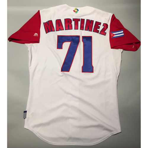Photo of 2017 WBC: Cuba Game-Used Home Jersey, Martinez #71
