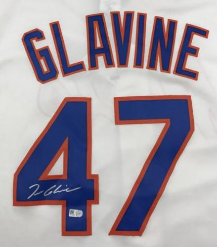Photo of Tom Glavine Autographed Mets Replica Jersey