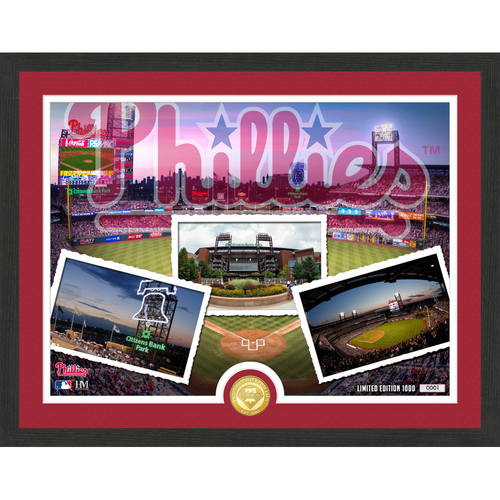 "Photo of Philadelphia Phillies ""Team Pride"" Bronze Coin Photo Mint - MLB.com Auctions Exclusive"