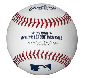 MLB Official Baseball with Cube by Rawlings