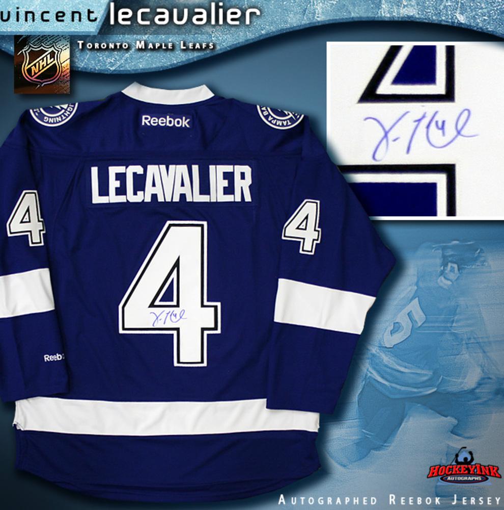 VINCENT LECAVALIER Signed Tampa Bay Lightning Blue Reebok Jersey