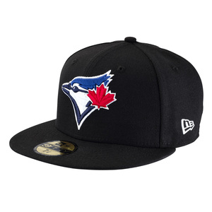 Toronto Blue Jays Basic Full Colour Secondary Logo Fitted Cap Black by New Era