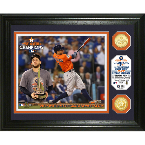 Serial #1! Houston Astros George Springer 2017 World Series