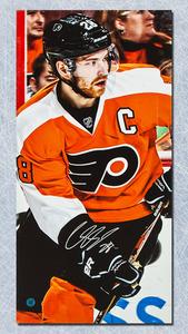 Claude Giroux Philadelphia Flyers Autographed 14x28 Art Canvas