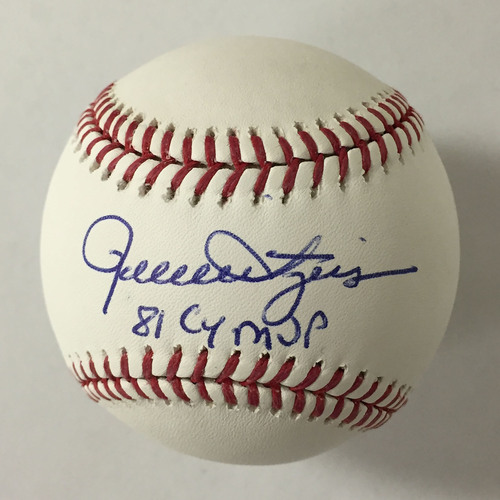 "Photo of Rollie Fingers Autographed ""81 CY MVP"" Baseball"