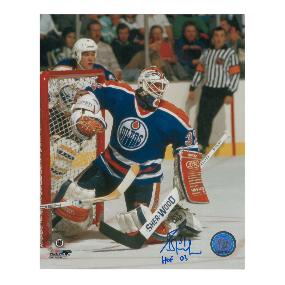 GRANT FUHR Signed Edmonton Oilers 8 X 10 Photo - 70235