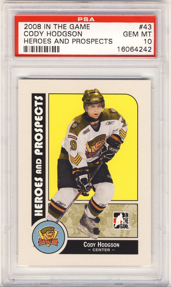 2008-09 ITG #43 Cody Hodgson Brampton Battalion Graded Pre-Rookie Card - GEM MT PSA 10 *Buffalo Sabres*