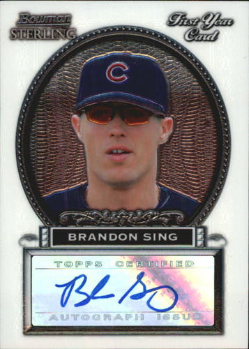 Photo of 2005 Bowman Sterling #BS Brandon Sing AU A RC