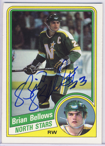 Brian Bellows Minnesota North Stars Autographed Hockey Card