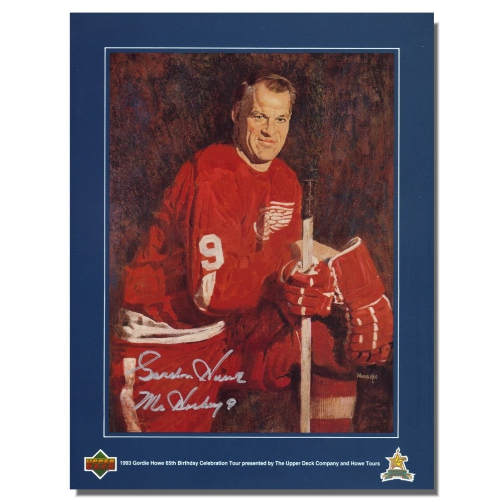 Gordie Howe Autographed Detroit Red Wings Upper Deck Magazine