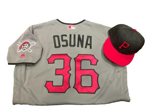 Photo of Jose Osuna Game-Used Mother's Day Jersey and Hat (1 for 2, Go-Ahead HR in 10th Inning, 2 RBI)