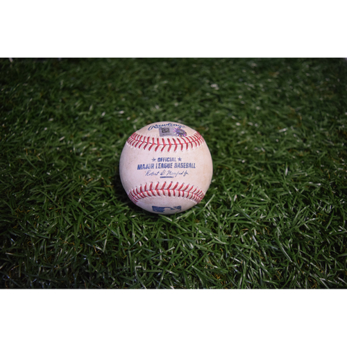 Photo of Game-Used Baseball: Lorenzo Cain, Eric Hosmer, Salvador Perez and Chris Archer