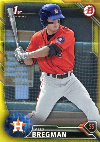 Photo of 2016 Bowman Prospects Yellow #BP4 Alex Bregman  -- Astros post-season