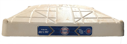 Photo of Game-Used 3rd Base -- Cubs vs. Rays -- 7/5/17 -- Used Innings 4 through 9