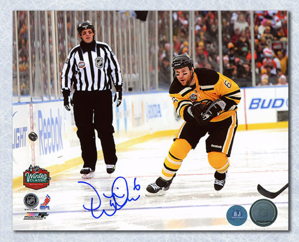 Dennis Wideman Boston Bruins Autographed Winter Classic 8x10 Photo