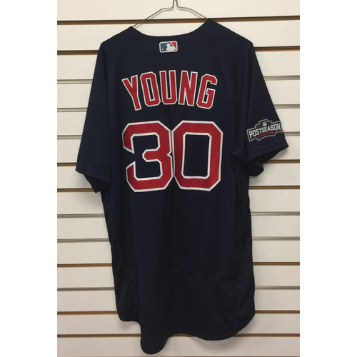 Photo of Chris Young Game-Used ALDS Game 1 Road Alternate Jersey