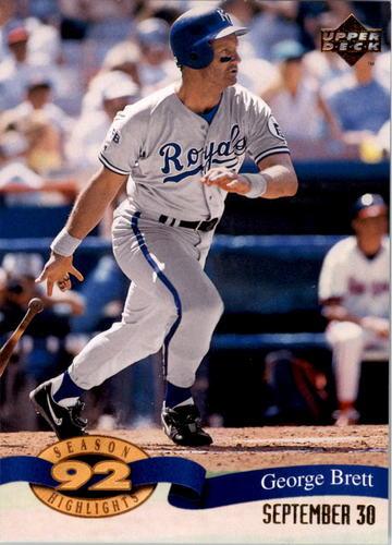 Photo of 1993 Upper Deck Season Highlights #HI7 George Brett