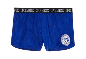 Toronto Blue Jays Love PINK Varsity Mesh Shorts by Victoria's Secret