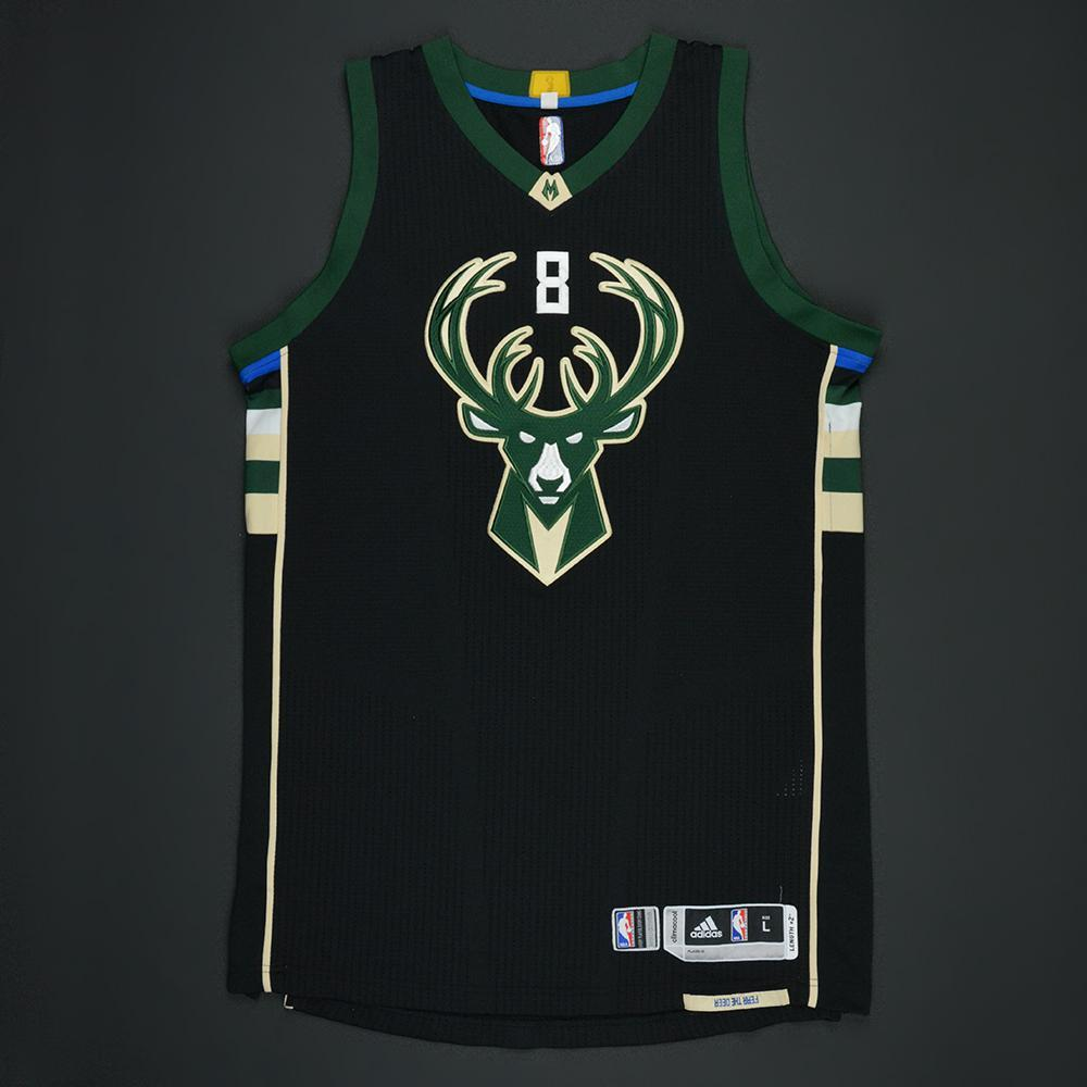 Matthew Dellavedova - Milwaukee Bucks - Black Playoffs Game-Worn Jersey - 2016-17 Season