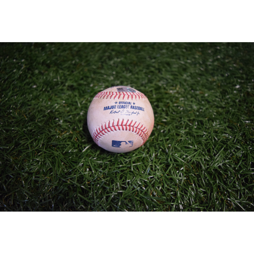 Photo of Game-Used Baseball: Mike Moustakas single off Jake Odorizzi