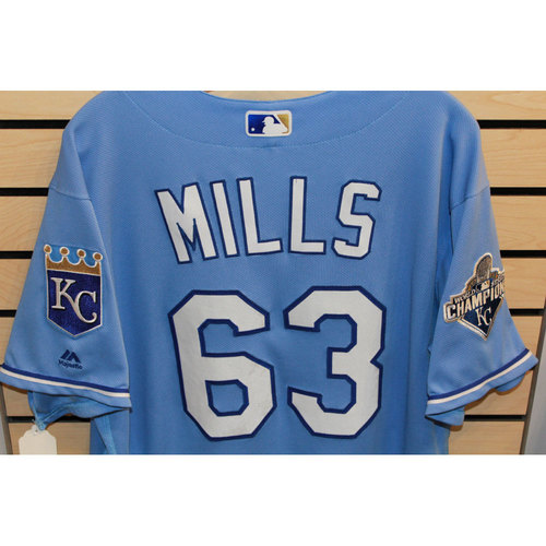 Photo of Game-Used Alec Mills Jersey (Size 48) (9/19/16 CWS @ KC)
