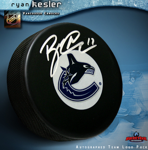 RYAN KESLER Signed Vancouver Canucks Puck