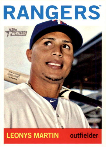 Photo of 2013 Topps Heritage #H593 Leonys Martin