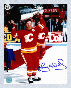 Lanny McDonald Calgary Flames Autographed 1989 Stanley Cup 16x20 Photo