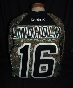 Carolina Hurricanes Authentic Military Appreciation Night Elias Lindholm #16 Jersey
