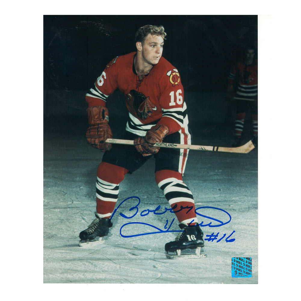 BOBBY HULL Signed Chicago Blackhawks 8 X 10 Photo - 70238