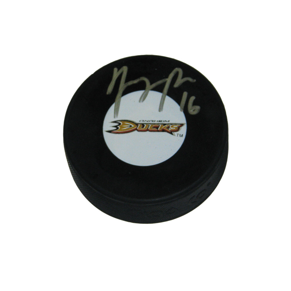 GEORGE PARROS Signed Anaheim Ducks Puck