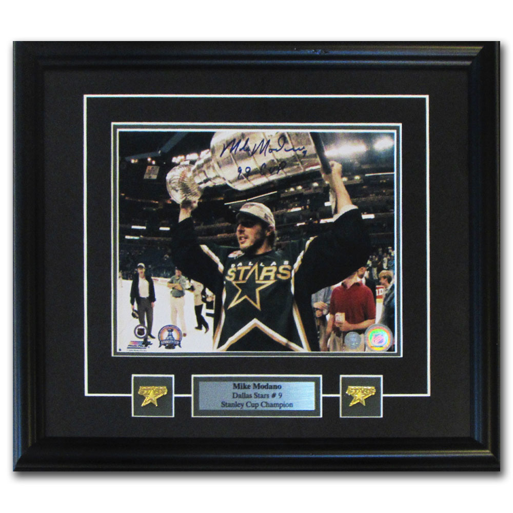 Mike Modano Autographed Dallas Stars Framed 8X10 Photo