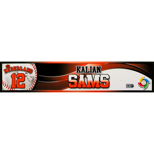 2013 World Baseball Classic: Kalian Sams (NED) Game-Used Locker Name Plate